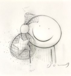 Any Dream For You III (study) by Doug Hyde - Original Drawing on Mounted Paper sized 6x6 inches. Available from Whitewall Galleries